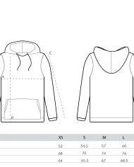 size guide – men hoodies