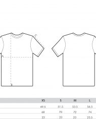 size guide – men tees (Ethics x Fs303)