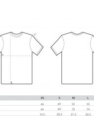size guide – men tees (branded)