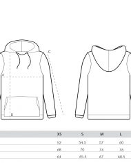 size guide – unisex hoodies