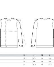 size guide – unisex sweatshirts