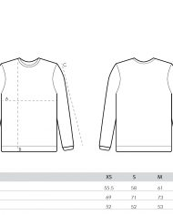size guide – women sweatshirts