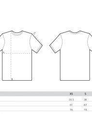 size guide – women tees (branded)